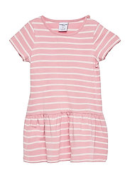 Dress jersey striped s/s Preschool - BRIDAL ROSE
