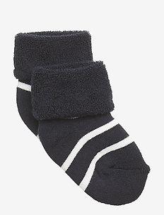 Sock Full Terry PO.P Stripe Newborn - DARK SAPPHIRE
