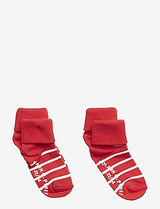 Socks 2-P Turn-up Anti Slip PO.P Stripe Baby - SKI PATROL