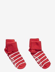 Socks 2-P Turn-up Anti Slip PO.P Stripe Preschool - SKI PATROL