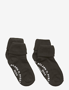 Socks 2-P Turn-up Anti Slip Solid - sokken - meteorite