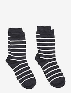 Socks 2-P PO.P Stripe - skarpetki - dark sapphire