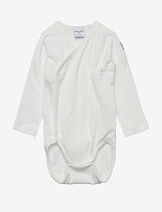 Body Wrapover Solid Newborn - SNOW WHITE