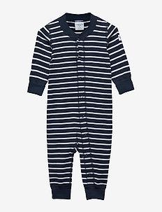 Overall PO.P Stripe Newborn - DARK SAPPHIRE