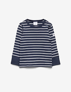 T-shirt l/s PO.P Stripe Baby - langärmelige - dark sapphire