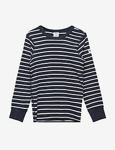 T-shirt l/s PO.P Stripe - långärmade t-shirts - dark sapphire