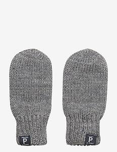 Mitten Wool Solid Newborn - vantar - greymelange