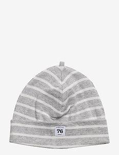 Cap PO.P Stripe - kapelusze - greymelange