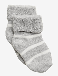 Sock Full Terry PO.P Stripe Newborn - skarpetki - greymelange