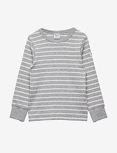 T-shirt l/s PO.P Stripe - GREYMELANGE