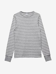 T-shirt l/s PO.P Stripe - lange mouwen - greymelange