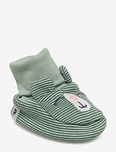Slipper striped/application NB - GREEN BAY