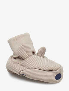 Slipper striped/application NB - SIMPLY TAUPE