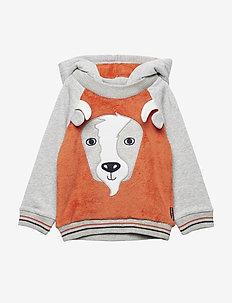Sweatshirt Hood Preschool - BURNT OCHRE