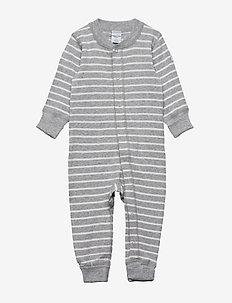 Overall PO.P Stripe - long-sleeved - greymelange