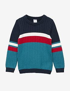 Sweater Knitted Pre-school - DARK SAPPHIRE