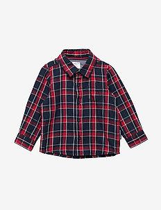 Shirt Long Sleeve Checked Baby - DARK SAPPHIRE