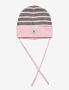 Striped Baby Hat - ALMOND BLOSSOM