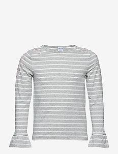 Top Long Sleeve stripe School - GREYMELANGE