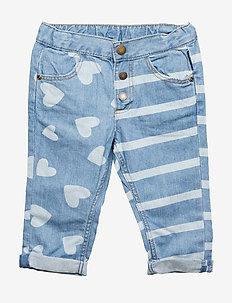 Jeans Slim w. Print Preschool - LIGHT DENIM