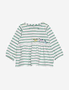 Top Long Sleeve Embroidery Baby - SNOW WHITE