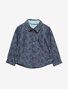 Shirt Long Sleeve with print Pre-school - MID DENIM
