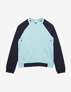 Sweater Long Sleeve  School - AQUA HAZE