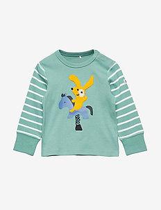 T-shirt Long Sleeve PO.P Stripe Baby - MALACHITE GREEN