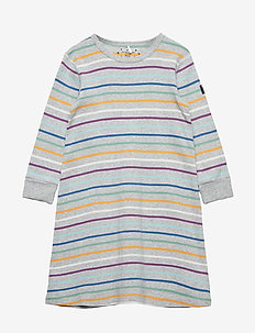 Nightdress Long Sleeve PO.P Stripe Preschool - GREYMELANGE