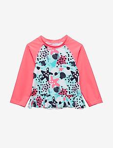 Swimwear Top l/s UPF AOP Preschool - FANDANGO PINK