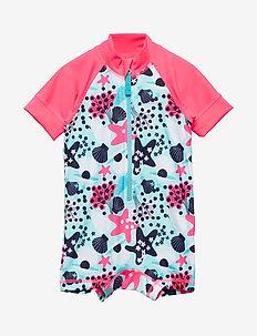 Swimsuit Short UPF AOP Baby - FANDANGO PINK