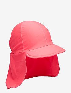 UPF 50 CAP w Frill Baby - FANDANGO PINK
