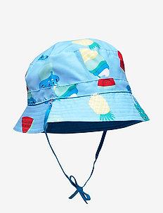 Sunhat Reversible Solid/AOP Preschool - ALASKAN BLUE