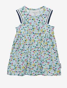 Dress S/S AOP Baby - COOL BLUE