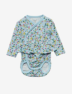 Body Wrapover AOP Baby - COOL BLUE