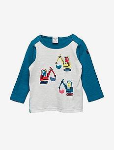 T-shirt l/s front print Preschool - OCEANS DEPTHS