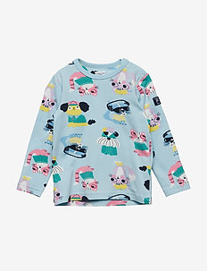 T-shirt l/s AOP Preschool - COOL BLUE