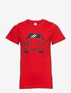T-shirt Frontprint s/s School - FLAME SCARLET