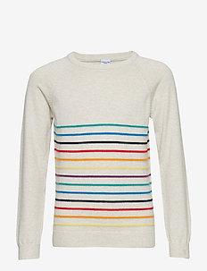 Sweater Knitted School - ECRU MELANGE