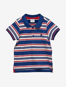 Piké s/s Striped Preschool - SODALITE BLUE
