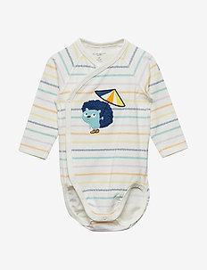 Body Wrapover Stripe Baby - SNOW WHITE
