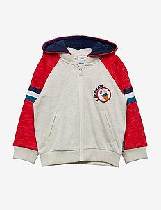 Sweatshirt Hood Preschool - FLAME SCARLET