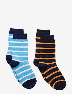 Socks 2P PO.P Stripe School - ALASKAN BLUE