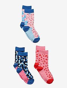 Socks 3-P Jaquard/Striped Preschool - ALMOND BLOSSOM