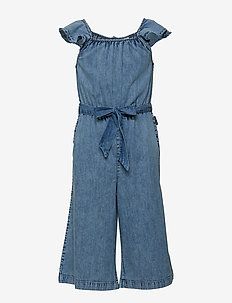 Jumpsuit AOP School - LIGHT DENIM