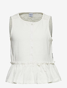 Top Jersey S/S school - SNOW WHITE