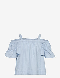 Top s/s woven School - COOL BLUE