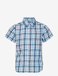 Shirt S/S Check School - SNOW WHITE