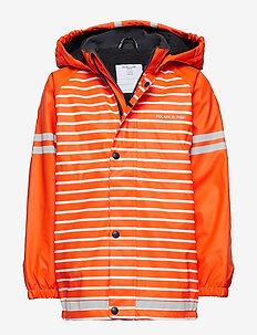 Rain Jacket Solid Preschool - FLAME