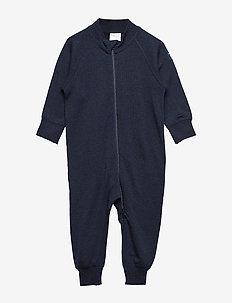 Overall Solid Wool Baby - basislag - dark sapphire